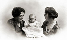 Elsa with grandmother Elise Bieri Groll and mother Elsa Groll Heisel