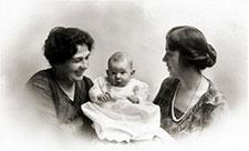 Elsa with grandmother Elise Bieri Groll and mother Elsa Groll Heisel