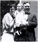 Elsa with parents Elsa Groll and Dr. Clifford Newell Heisel